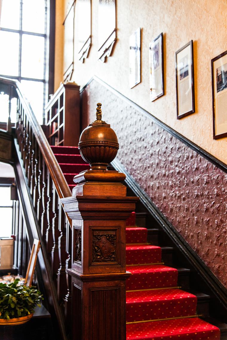 Stairway at the Harrogate Club